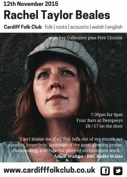 Cardiff Folk Club: Rachel Taylor-Beales