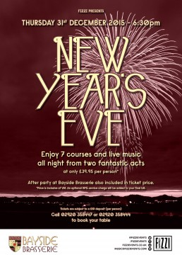 New Year's Eve at Bayside Brasserie