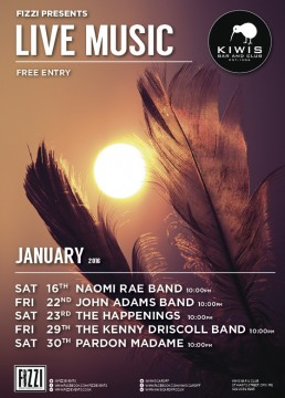 Kiwis: January Live Music