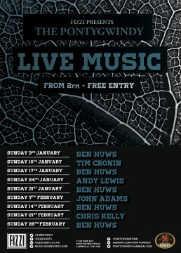 The Pontygwindy: January and February Live Music
