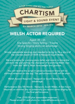 Welsh Actor Required