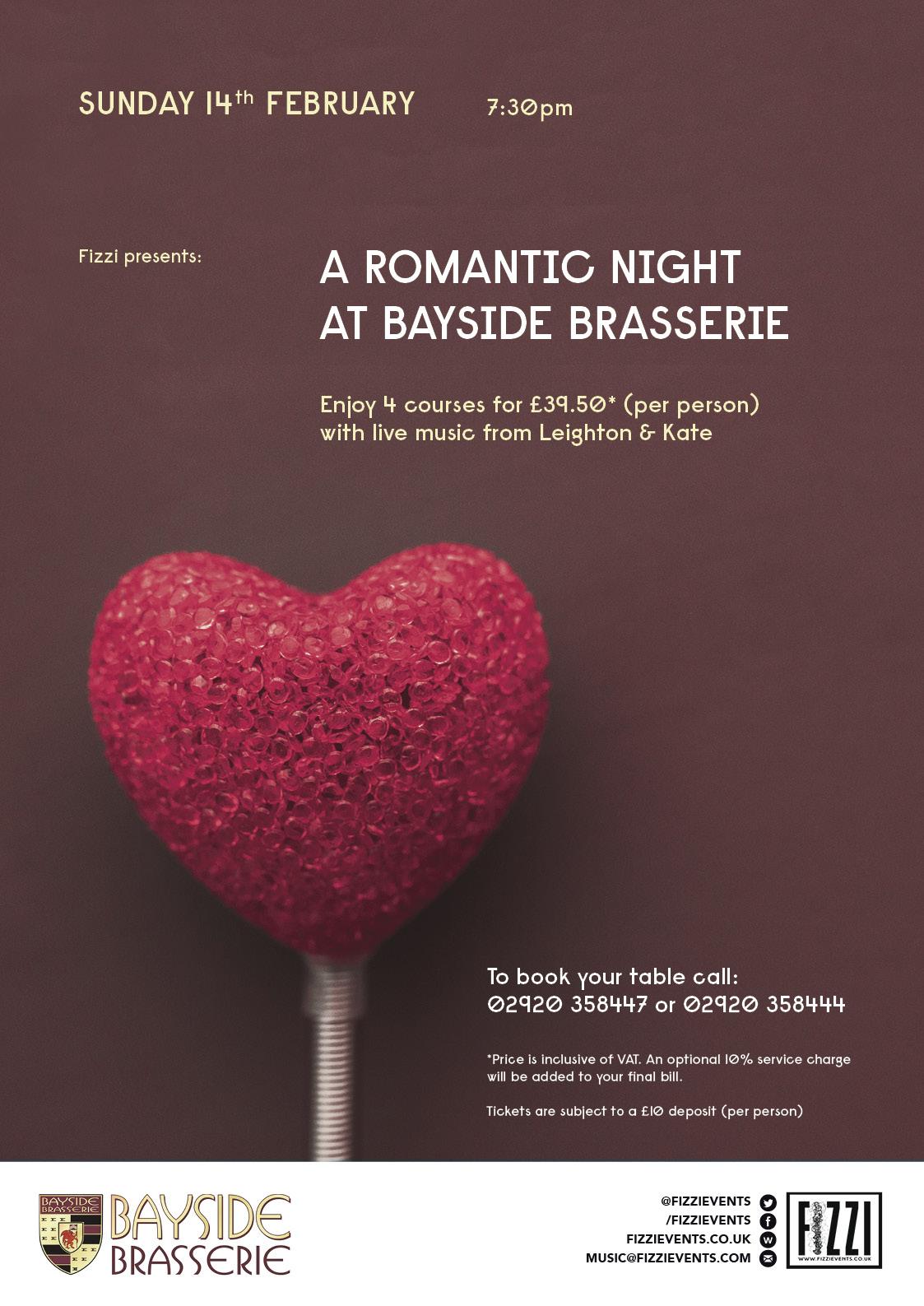 Bayside Brasserie: Valentines Night