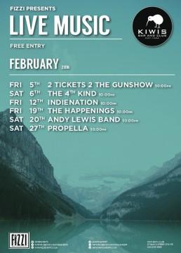 Kiwis: February Live Music