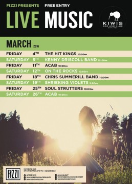 Kiwis: March Live Music