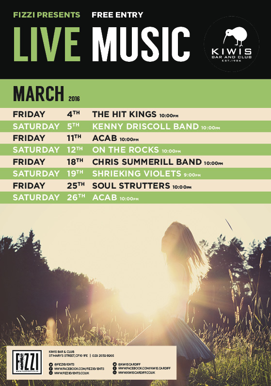 Kiwis: March Live Music
