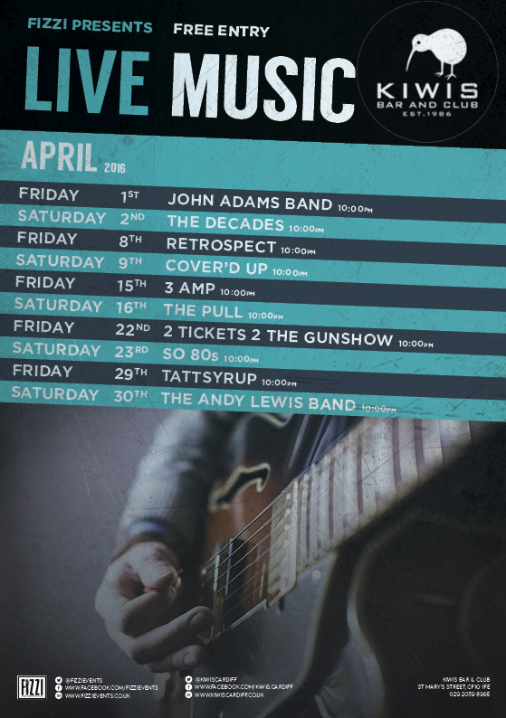 Kiwis: April Live Music