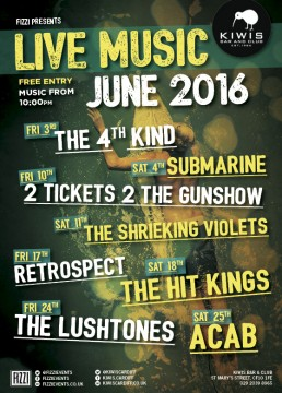 Kiwis: June Live Music