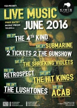 Kiwis: June Live Music