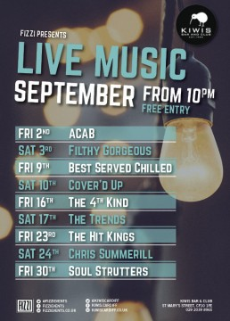Kiwis: September Live Music
