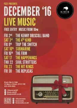 Kiwis: December Live Music