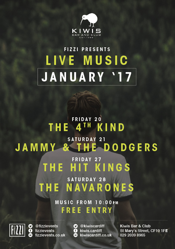 Kiwis: January 2017 Live Music