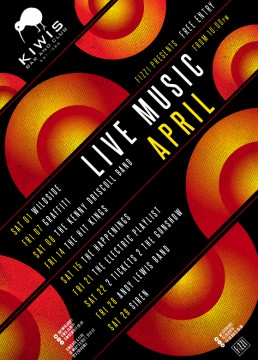 Kiwis: April 2017 Live Music
