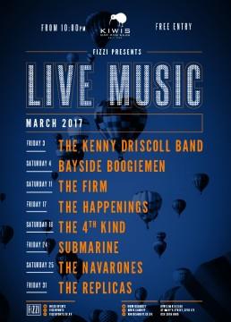 Kiwis: March 2017 Live Music