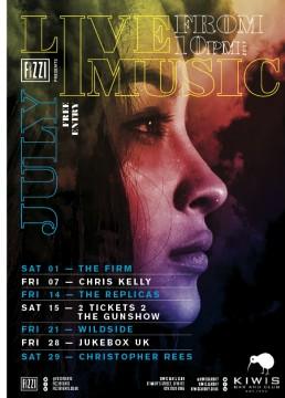 Kiwis: July 2017 Live Music