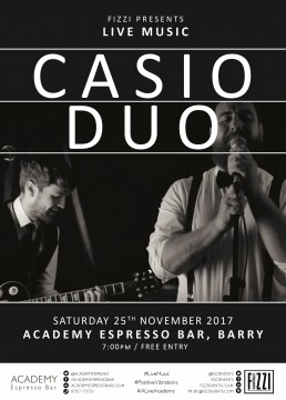 Casio Duo – Academy Espresso Bar, Barry