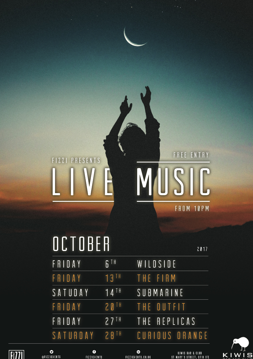 Kiwis: October 2017 Live Music