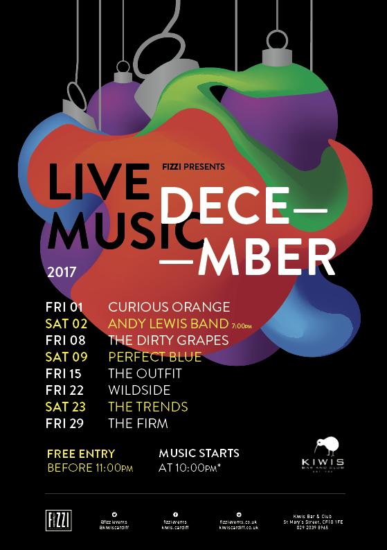 Kiwis December 2017 Live Music