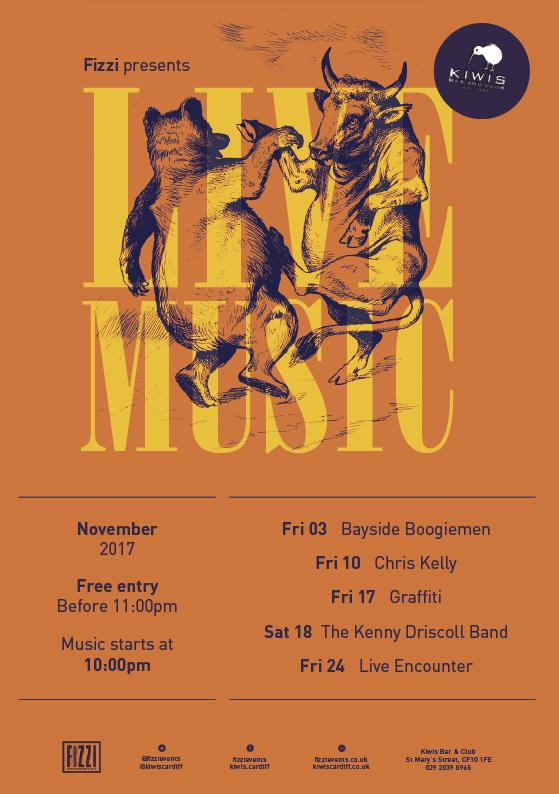Kiwis: November 2017 Live Music