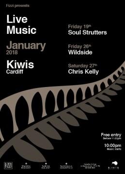 Kiwis January 2018 – Live Music