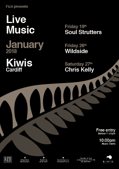 Kiwis January 2018 – Live Music