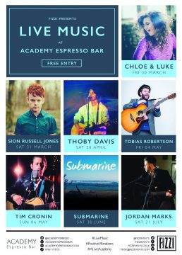 Academy Espresso Live Music – March/July 2018