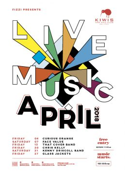 Kiwis April 2018 – Live Music