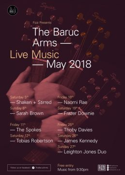 The Baruc Arms Live Music – May 2018