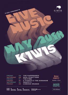Kiwis Cardiff Live Music – May 2018