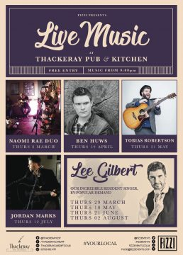 Thackeray Live Music – March/August 2018