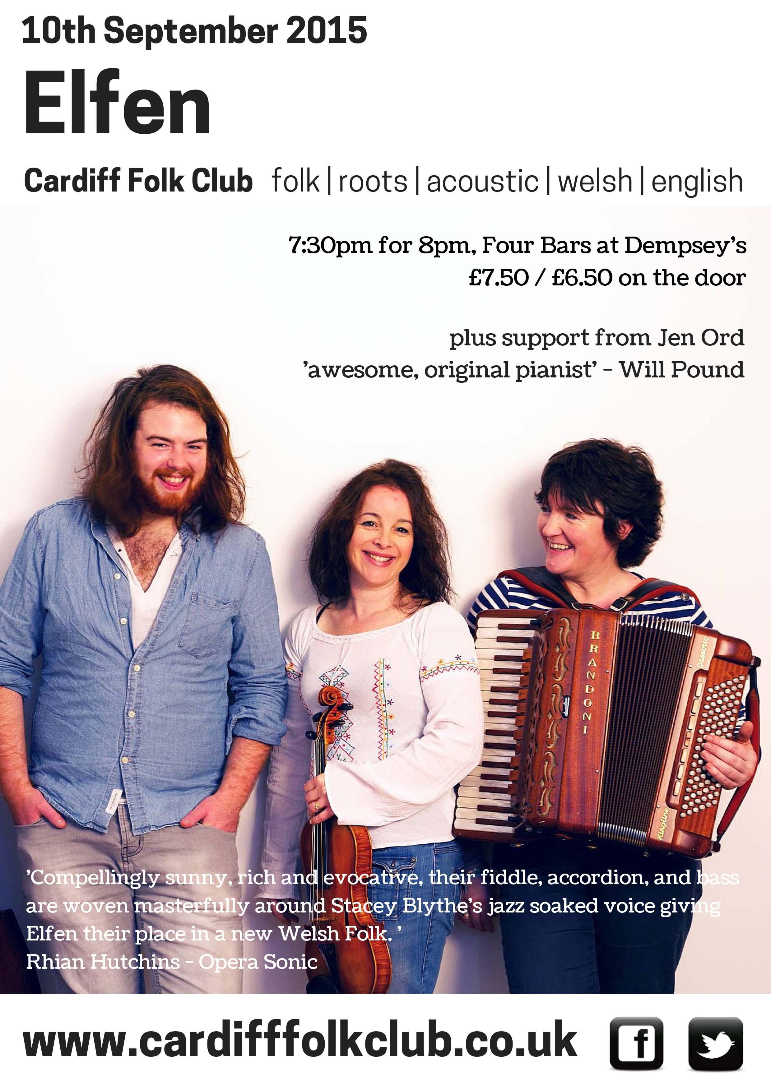 Cardiff Folk Club: Elfen