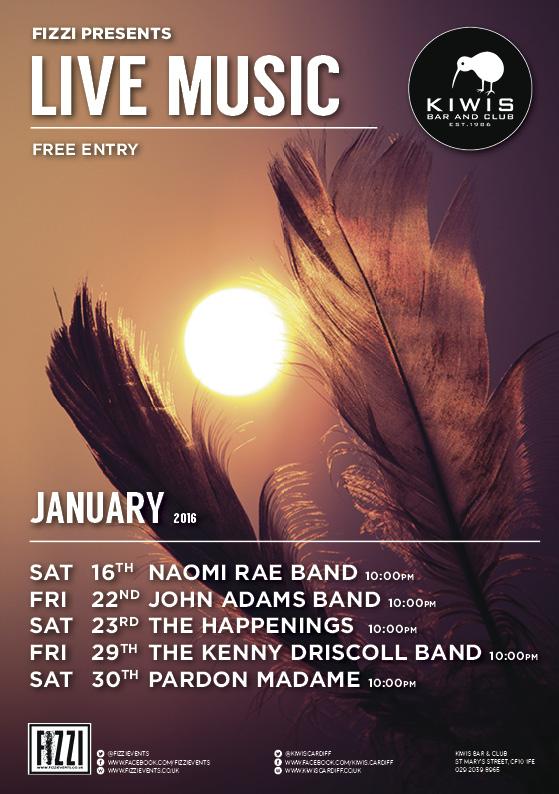 Kiwis: January Live Music