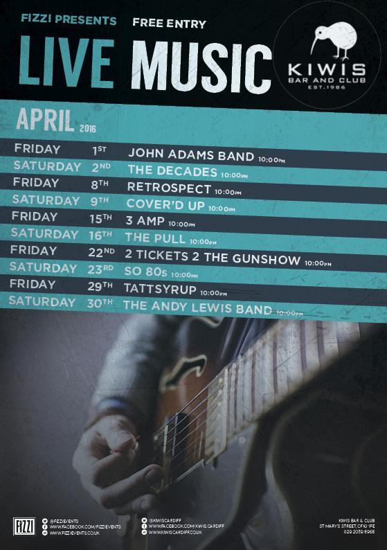 Kiwis: April Live Music