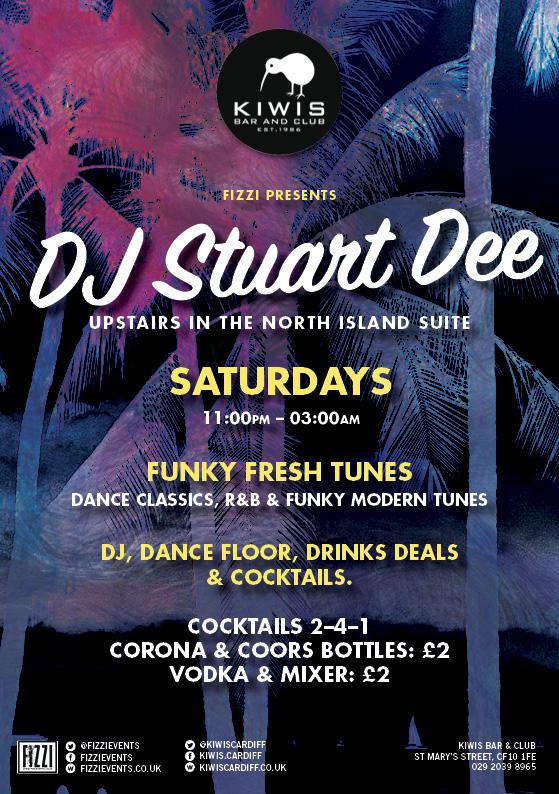 Kiwis Cardiff – DJ Stuart Dee