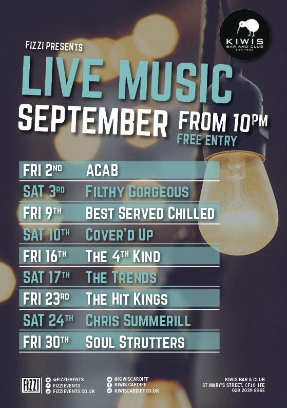 Kiwis: September Live Music