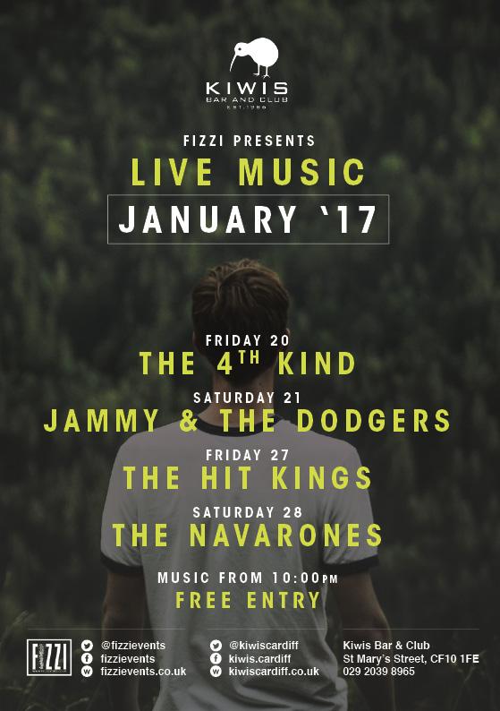 Kiwis: January 2017 Live Music