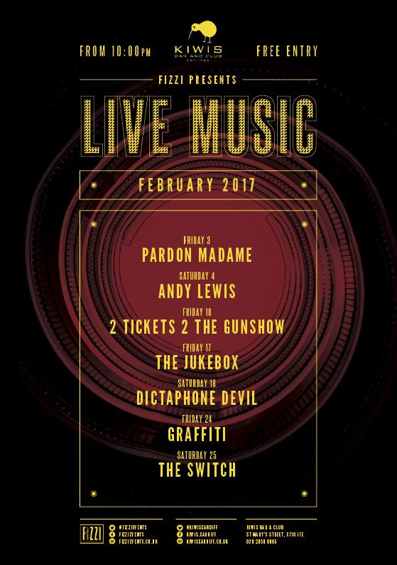 Kiwis: February 2017 Live Music