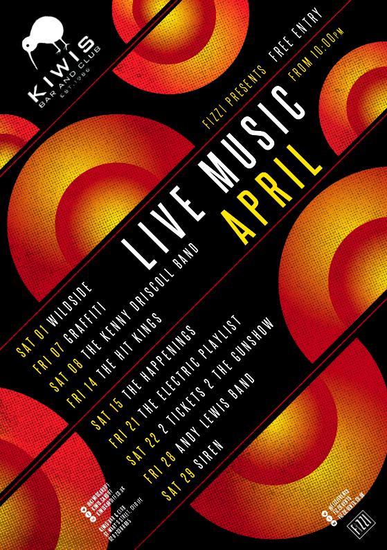 Kiwis: April 2017 Live Music