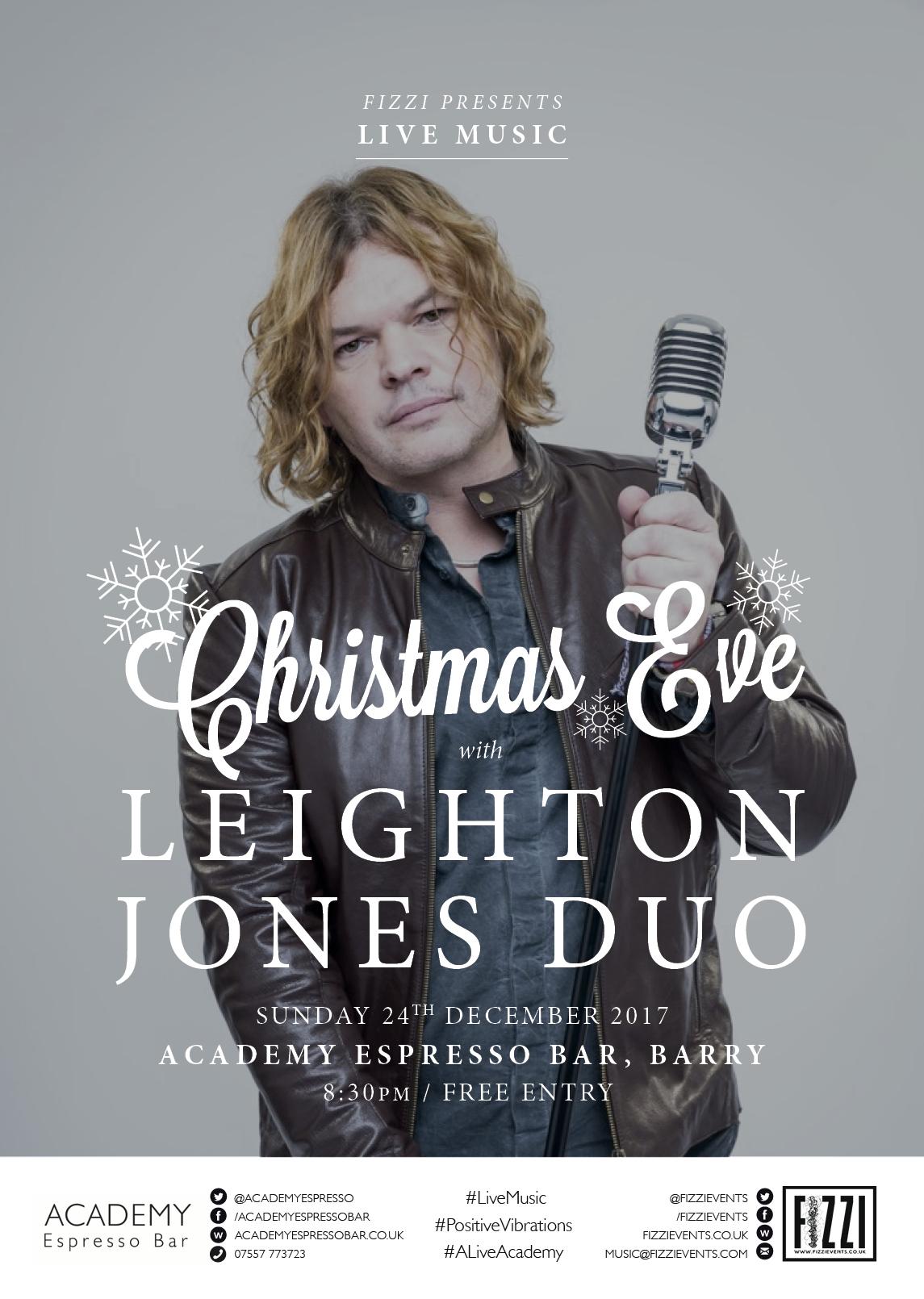 Leighton Jones Duo – Christmas Eve – Academy Espresso Bar