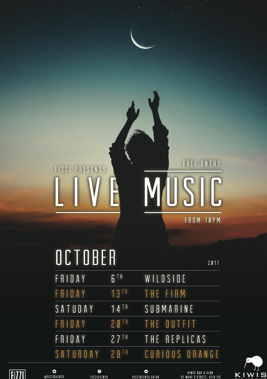 Kiwis: October 2017 Live Music