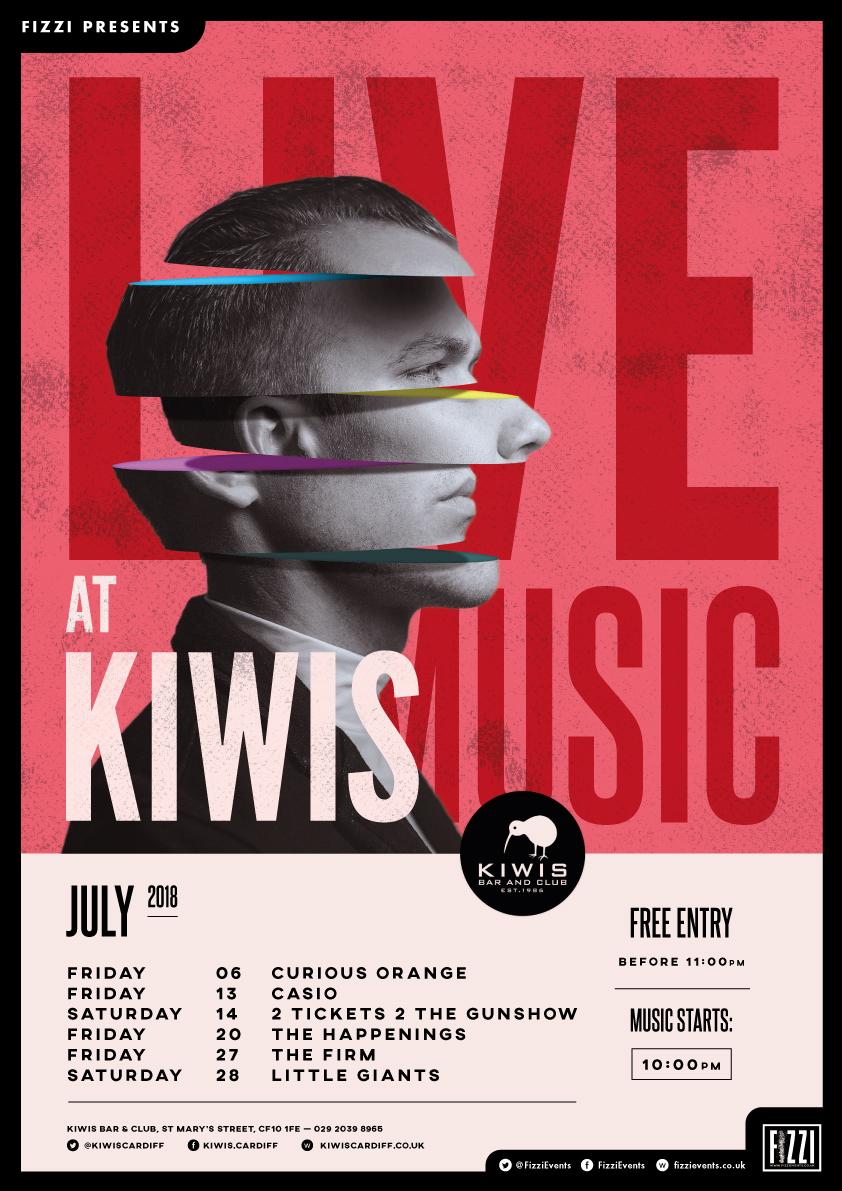 Kiwis – Live Music July 2017